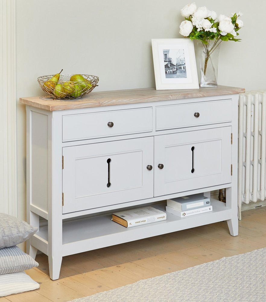Small Hallway Furniture: Baumhaus Signature Grey Small Sideboard / Hall Console