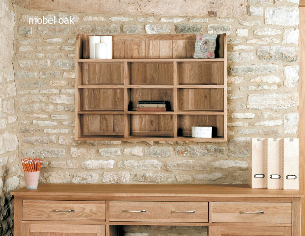 home other rooms home office furniture baumhaus mobel oak reversible wall rack