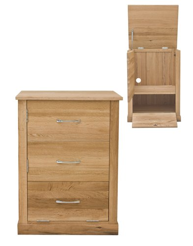 home other rooms home office furniture baumhaus mobel oak printer cupboard