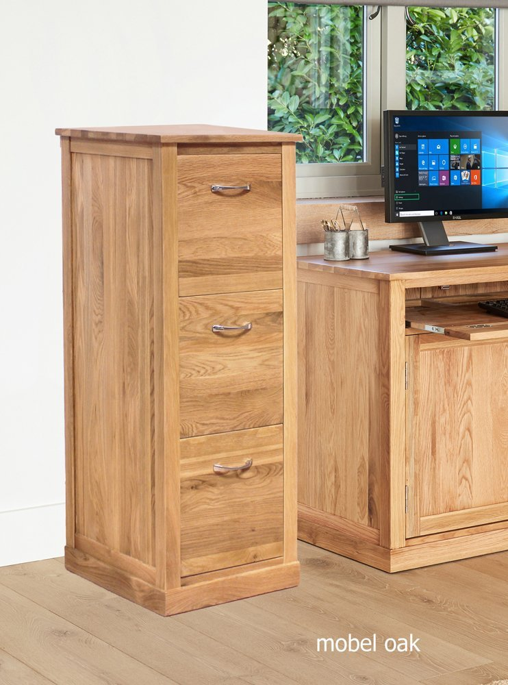 home other rooms home office furniture baumhaus mobel oak 3 drawer filing cabinet