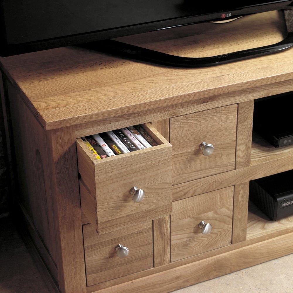 home collections baumhaus baumhaus mobel oak baumhaus mobel oak four drawer television cabinet