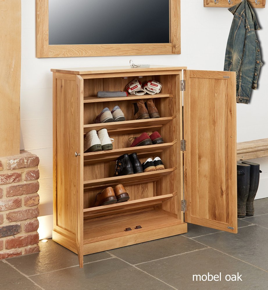 home other rooms hall furniture shoe cupboards baumhaus mobel oak large shoe cupboard