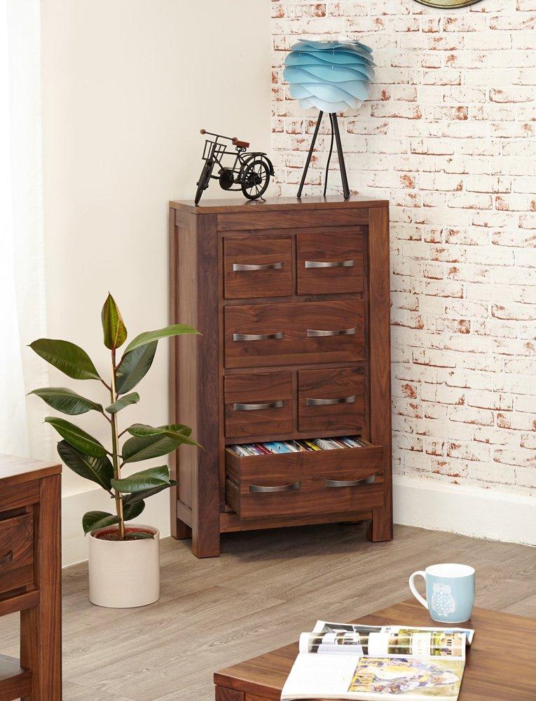 home collections baumhaus baumhaus mayan walnut baumhaus mayan dvd cd storage chest