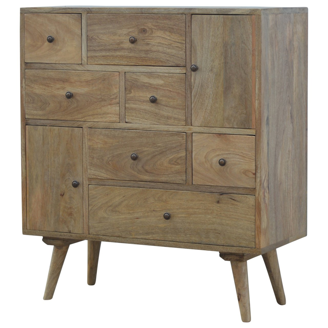 Artisan Nordic Style Solid Wood Multi Drawer Cabinet